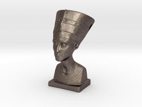 Nefertitti pendant in Polished Bronzed Silver Steel
