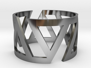 VOLTA Women Ring [Multiple Sizes] in Fine Detail Polished Silver