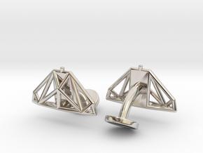 Cobra mkIII Wireframe Cufflinks in Platinum
