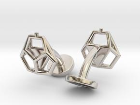 Asp mkII Wireframe Cufflinks in Platinum