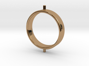 Gyroscope Ring, Inner in Polished Brass