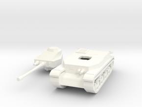 Hungarian Turan III Medium tank 1/100th 15mm in White Processed Versatile Plastic