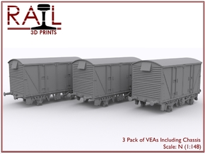 3 Pack - VEA with Chassis - N Scale in Smooth Fine Detail Plastic