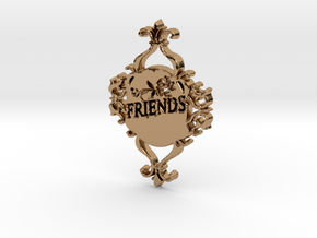 Special Friends Pendant  in Polished Brass