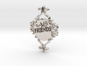 Special Friends Pendant  in Rhodium Plated Brass