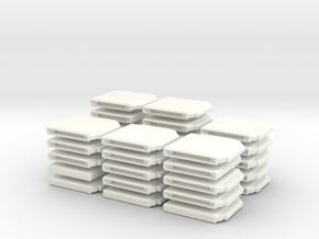 Chess Set Board White (PART 2) in White Processed Versatile Plastic
