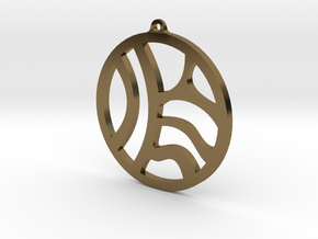 Tribal Earring/Pendant in Polished Bronze