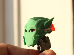 Toa Sameri's Kanohi Mask of Adaptation in Green Processed Versatile Plastic