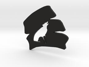Whytewolf Coaster/Badge in Black Natural Versatile Plastic