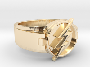 V2 Flash Ring Size 10, 19.80 mm in 14K Yellow Gold
