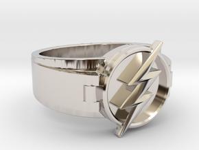V2 Flash Ring Size 10, 19.80 mm in Platinum
