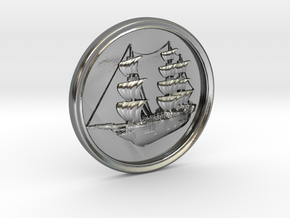 Ship Basrelief in Polished Silver