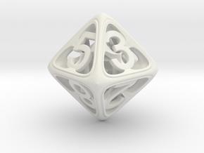 Hedron Dice Set in White Natural Versatile Plastic: d8