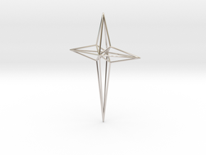 Star 7x5x1 D1 in Rhodium Plated Brass