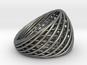[Ring]Weave|Size8|18.1mm in Fine Detail Polished Silver
