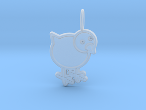 Chicken Pendant in Smooth Fine Detail Plastic