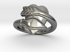 Cupido Ring 15 - Italian Size 15 in Fine Detail Polished Silver