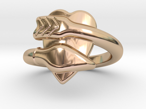 Cupido Ring 16 - Italian Size 16 in 14k Rose Gold Plated Brass