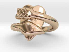 Cupido Ring 18 - Italian Size 18 in 14k Rose Gold Plated Brass
