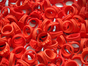 I Love Holland Rings 4xD20,40xD18,44xD16 in Orange Processed Versatile Plastic