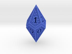 Hedron D10 (v2 open) Spindown - Solid in Blue Processed Versatile Plastic