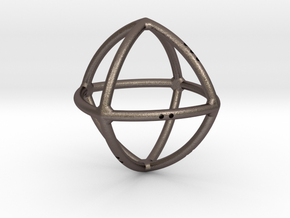 Convex Octahedron in Polished Bronzed Silver Steel