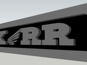 CXwingRR Engine Badge - Left in Polished Metallic Plastic