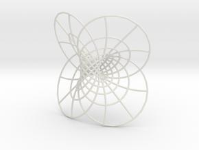 Hopf Fibration, 12.7 cm in White Natural Versatile Plastic