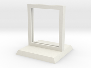"Paper Insert Miniature Stand 1"" (Square Base) in White Natural Versatile Plastic"