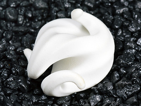 G3 Sculpture in White Strong & Flexible Polished: Medium