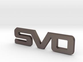SVO Fender Emblem for  2015 Mustang Ecoboost in Polished Bronzed Silver Steel