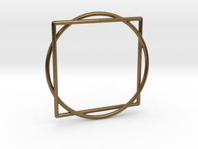 Squaring the Circle / Quadratur des Kreises in Natural Bronze