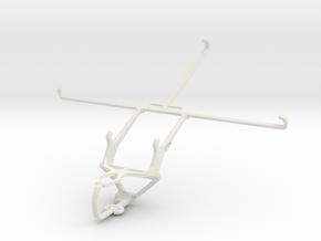 Controller mount for PS3 & HTC Nexus 9 in White Natural Versatile Plastic