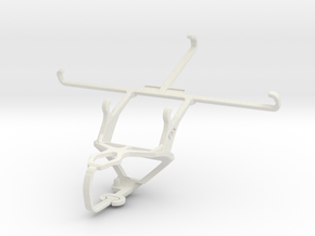 Controller mount for PS3 & Samsung Galaxy Mega 6.3 in White Natural Versatile Plastic