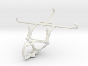 Controller mount for PS3 & Samsung Galaxy Note 4 in White Natural Versatile Plastic