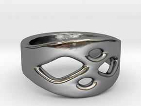 Frohr Design Ring Easy Style in Fine Detail Polished Silver
