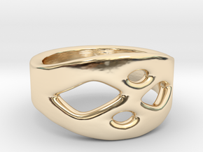 Frohr Design Ring Easy Style in 14k Gold Plated Brass
