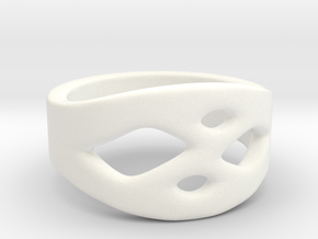 Frohr Design Ring Easy Style in White Processed Versatile Plastic