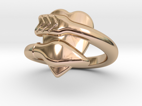 Cupido Ring 20 - Italian Size 20 in 14k Rose Gold Plated Brass