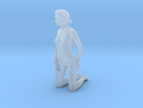 D. Kneeling - 10cm high - Solid model in Smooth Fine Detail Plastic