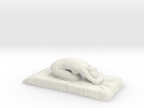 D. Face Down - 14cm wide - 1mm shell in White Natural Versatile Plastic