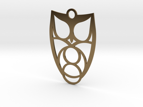Owl #1 (thin version) in Polished Bronze