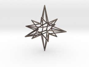 Star-Stag-14 in Polished Bronzed Silver Steel