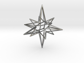 Star-Stag-14 in Fine Detail Polished Silver