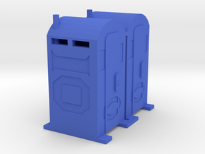 PortaPotty - 'O' 48:1 Scale Qty (2) in Blue Processed Versatile Plastic
