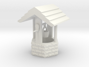 Wishing Well Base Block01 'O' 48:1 Scale in White Strong & Flexible
