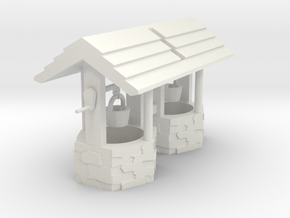 Wishing Well Base Block02 'O' 48:1 Scale - Qty (2) in White Natural Versatile Plastic