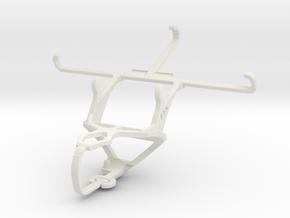 Controller mount for PS3 & BLU Studio 5.0 S II in White Natural Versatile Plastic