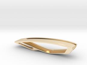 Trapezio Mini Keychain in 14k Gold Plated Brass