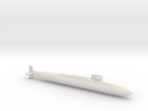 USS Lafayette SSBN, Full Hull, 1/1800 in White Natural Versatile Plastic